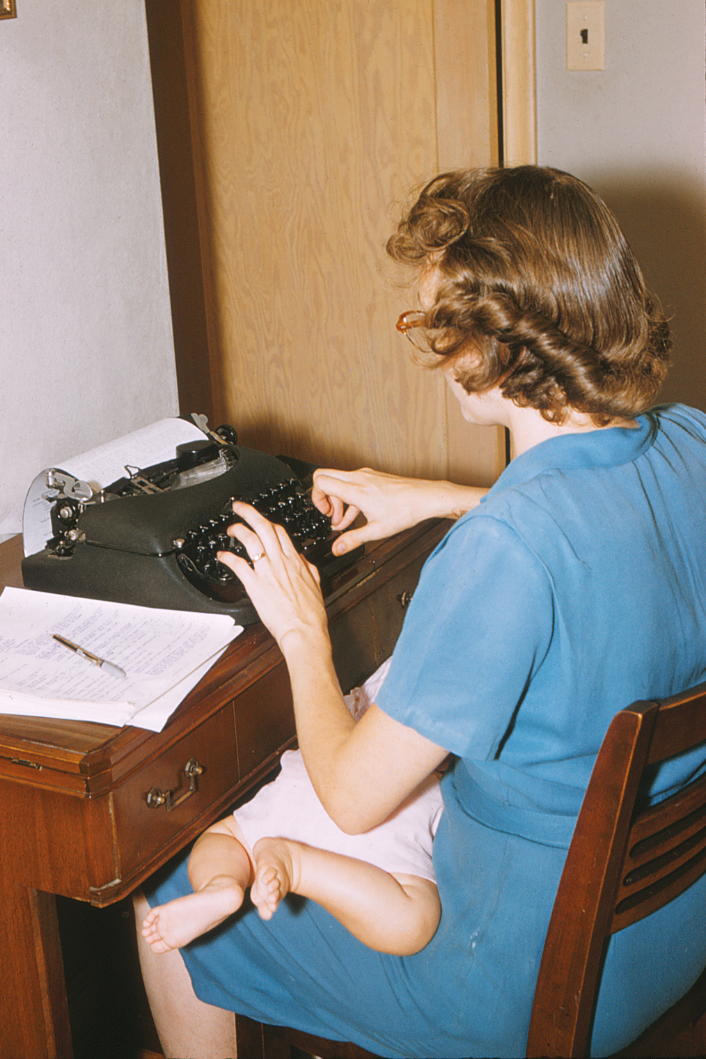 Mom at Typewriter