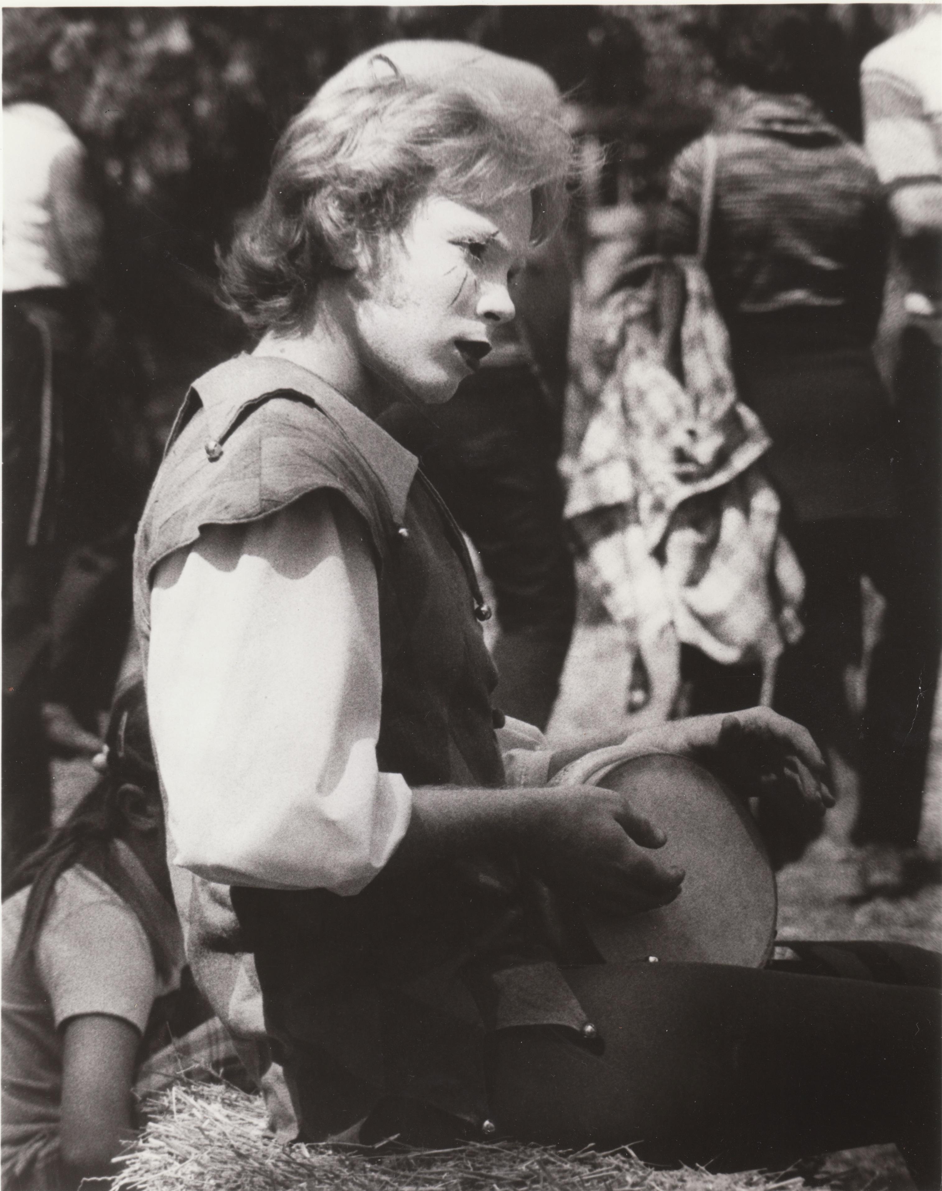 Lloyd Playing Bumbek in 1977