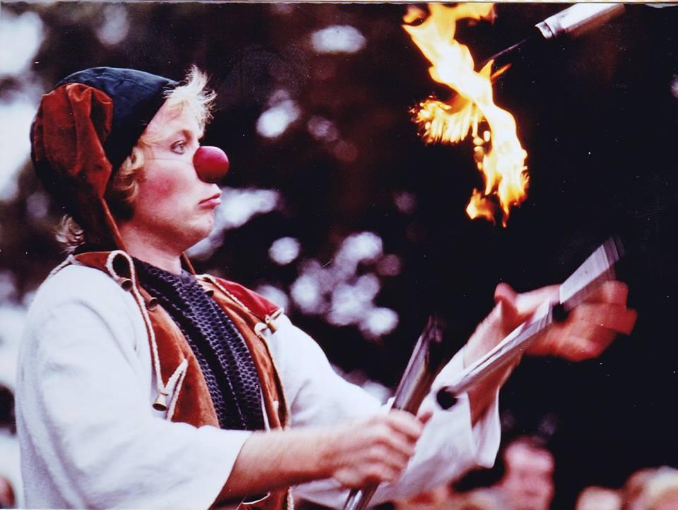 Lloyd Solo Juggling Fire