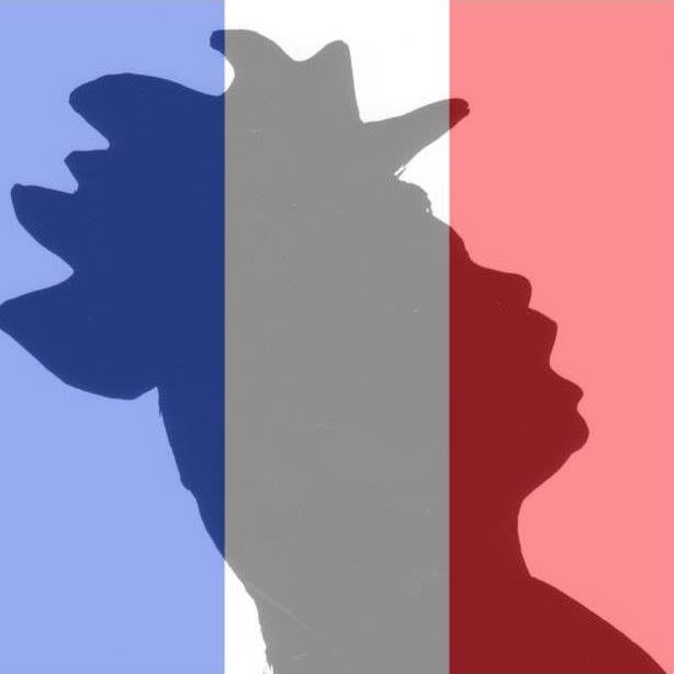 Chicken in French Flag Colors