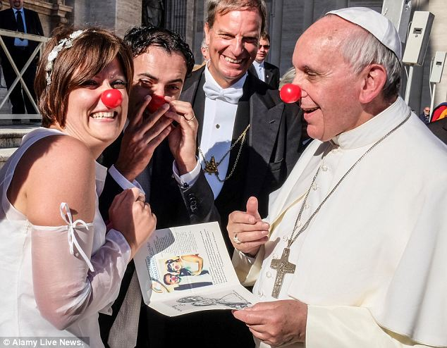 Pope in Clown Nose