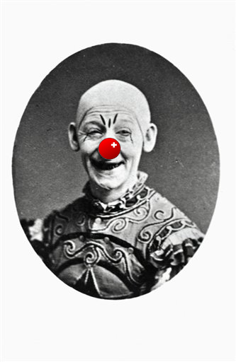 Original caption: George L Fox (1825-1877). The greatest clown of the American stage in his most famous role, Humpty Dumpty, which he performed 1268 times. Undated photograph. BPA2 #4997 (Copyright Bettmann/Corbis / AP Images)