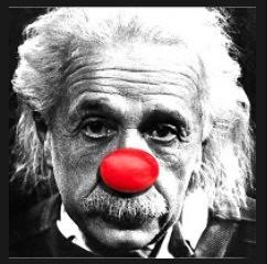 einstein-clown-nose