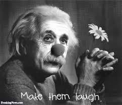 Einstein with Clown Face