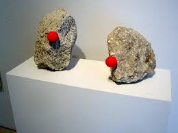 Red Noses on Stones
